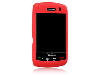 Blackberry Storm 9530 Silicone Skin Cover Case - Red