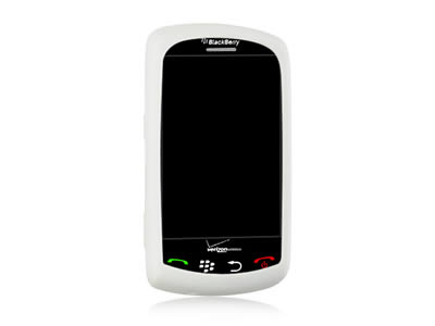 Blackberry Storm 9530 Silicone Skin Cover Case - White