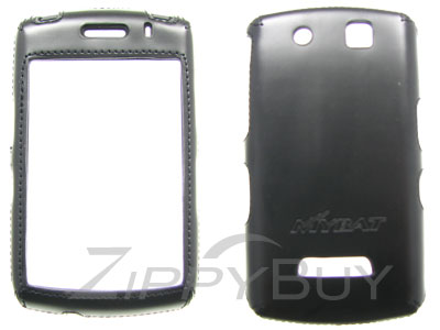 Blackberry Storm 9530 Faux Leather Hard Cover Case - Black