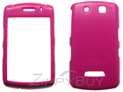 Blackberry Storm 9530 Faux Leather Hard Cover Case - Hot Pink