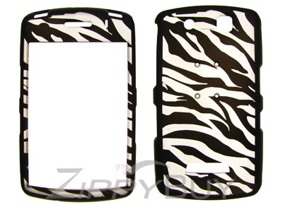 Blackberry Storm 9530 Rubberized Hard Cover Case - Zebra