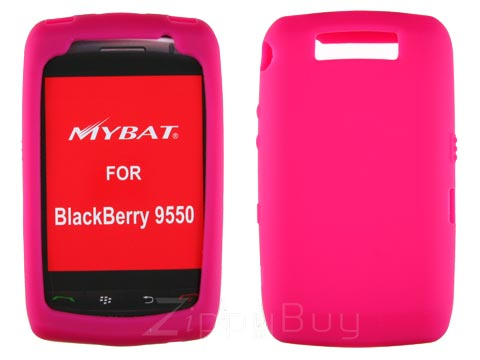 Blackberry Storm 2 9550 Silicone Skin Cover Case - Hot Pink