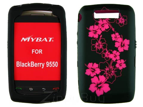 Blackberry Storm 2 9550 Silicone Skin Cover Case - Hot Pink Flowers