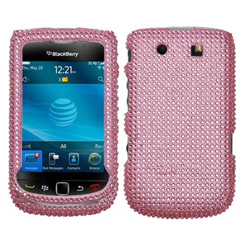 Pink Crystal Rhinestones Bling Case for Blackberry Torch