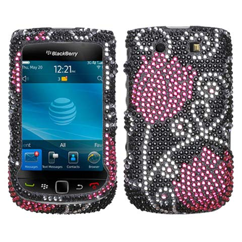 Tulip Crystal Rhinestones Bling Case for Blackberry Torch
