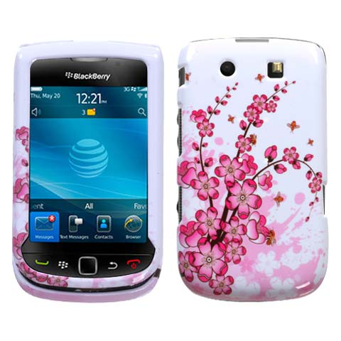 Pink Flowers Hard Case for Blackberry Torch