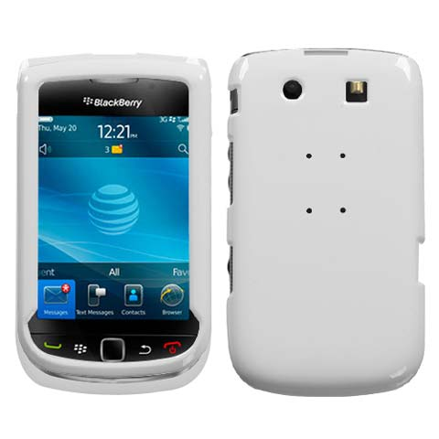 White Hard Case for Blackberry Torch