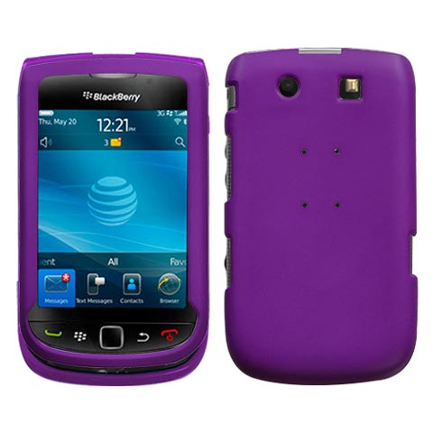 Purple Rubberized Hard Case for Blackberry Torch