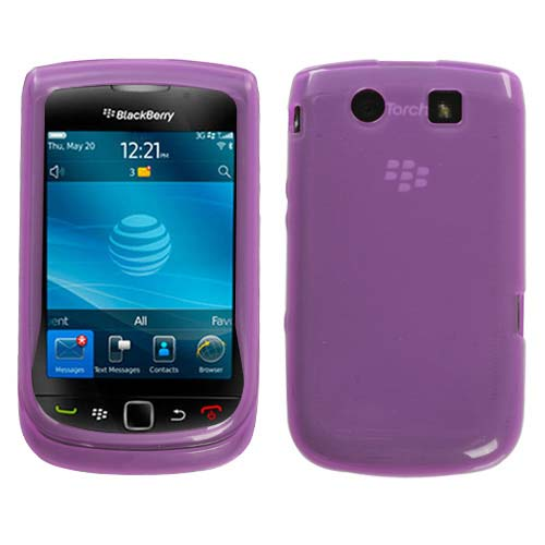 Purple TPU Case for Blackberry Torch