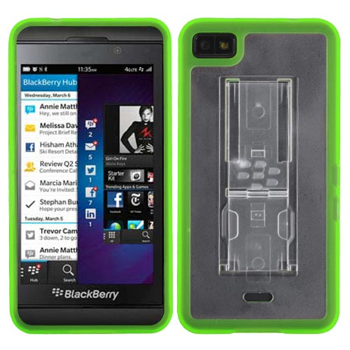 Green Fusion Cover w/Stand for Blackberry Z10