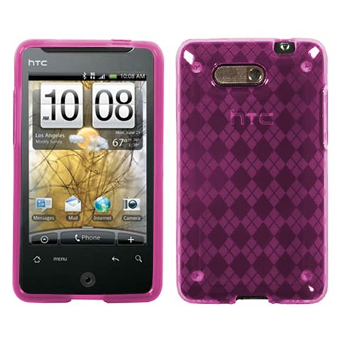 Pink Argyle TPU Case for HTC Aria