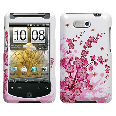 Pink Flowers Hard Case for HTC Aria