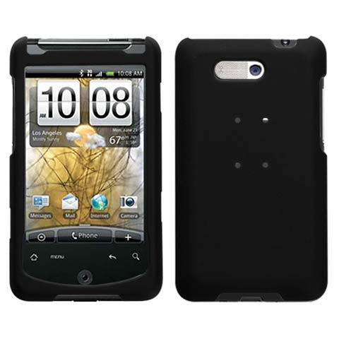 Black Rubberized Hard Case for HTC Aria
