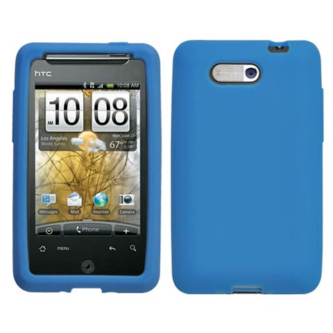 Blue Silicone Skin Cover for HTC Aria