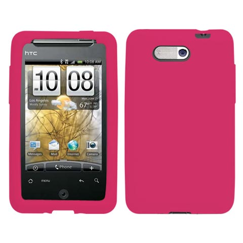 Hot Pink Silicone Skin Cover for HTC Aria