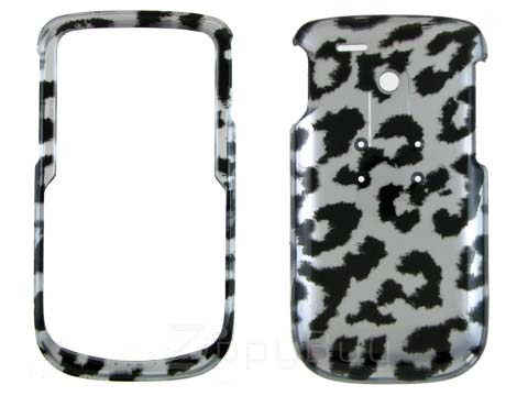 HTC Dash 3G Hard Cover Case - Silver Leopard