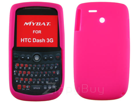 HTC Dash 3G Silicone Skin Cover Case - Hot Pink