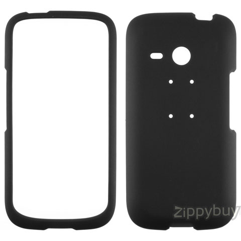 HTC Droid Eris Rubberized Hard Cover Case - Black