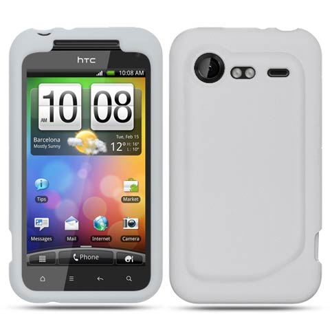 Frost White Silicone Skin Cover for HTC DROID Incredible 2