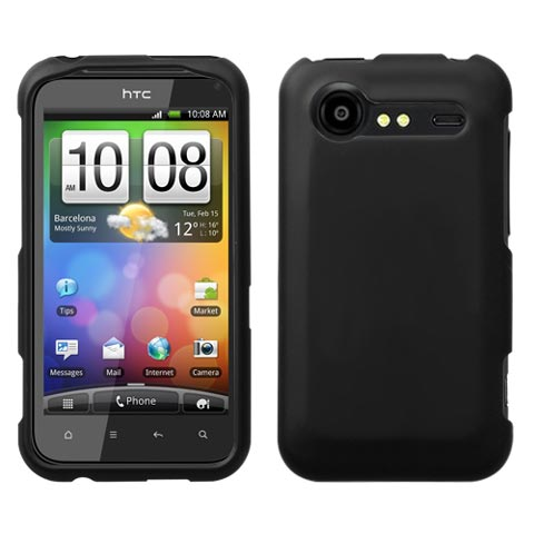 Black Rubberized Hard Case for HTC DROID Incredible 2