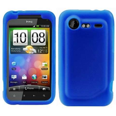 Blue Silicone Skin Cover for HTC DROID Incredible 2