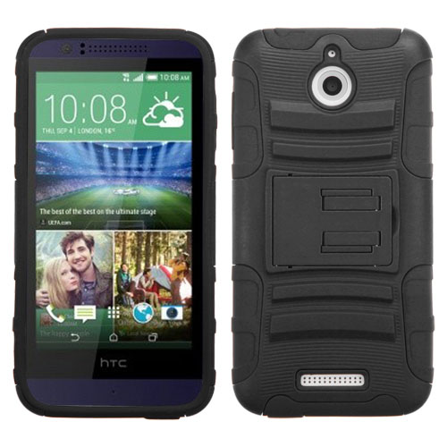 Black Armor Dual Layer Hybrid Case for HTC Desire 510