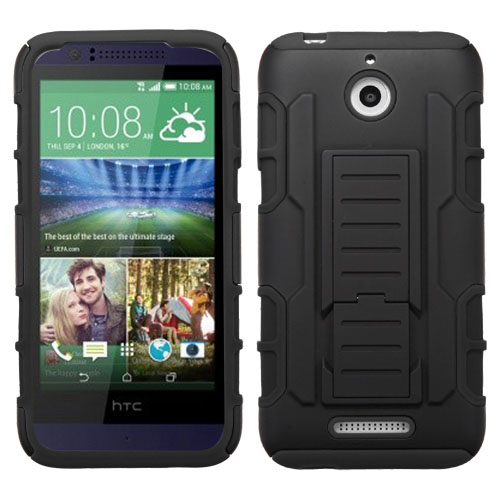 Black Lightspeed Dual Layer Hybrid Case for HTC Desire 510