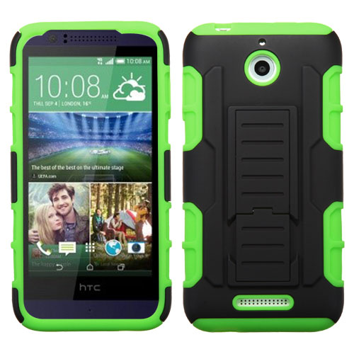 Green Lightspeed Dual Layer Hybrid Case for HTC Desire 510