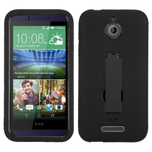 Black Symbiosis Dual Layer Hybrid Case for HTC Desire 510