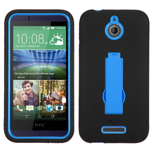 Black on Blue Symbiosis Dual Layer Hybrid Case for HTC Desire 510