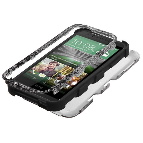 Black Lace Synergy Hybrid Case for HTC Desire 510