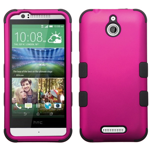 Hot Pink Synergy Hybrid Case for HTC Desire 510