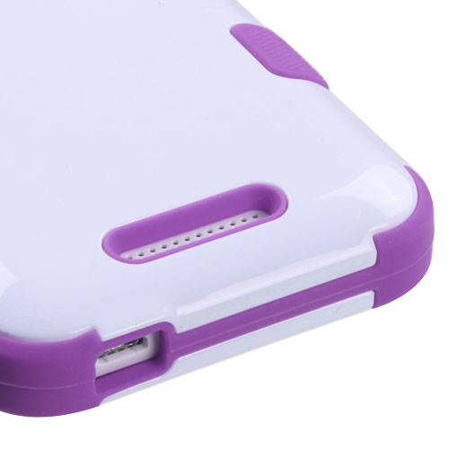 Purple and White Synergy Hybrid Case for HTC Desire 510