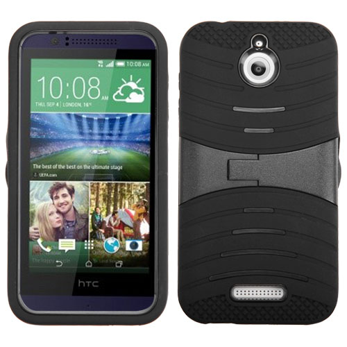 Black Wave Symbiosis Dual Layer Hybrid Case for HTC Desire 510