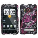 Heart Stream Crystal Rhinestones Bling Case for HTC EVO 4G