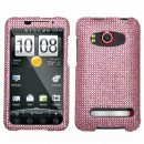 Pink Crystal Rhinestones Bling Case for HTC EVO 4G