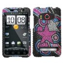 Stars Crystal Rhinestones Bling Case for HTC EVO 4G