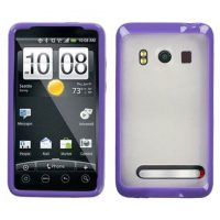 Purple and Frost Fusion Case for HTC EVO 4G