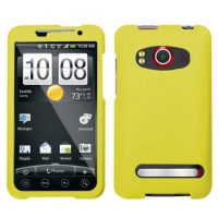 Yellow Rubberized Hard Case for HTC EVO 4G
