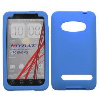 Baby Blue Silicone Skin Cover for HTC EVO 4G