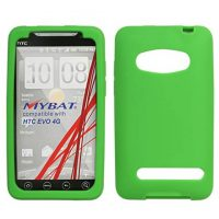 Green Silicone Skin Cover for HTC EVO 4G