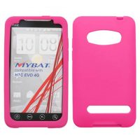 Hot Pink Silicone Skin Cover for HTC EVO 4G