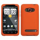 Orange Silicone Skin Cover for HTC EVO 4G