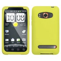 Yellow Silicone Skin Cover for HTC EVO 4G