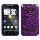 Purple Zebra TPU Case for HTC EVO 4G