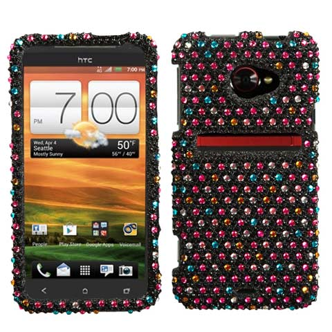 Sparkle Dots Crystal Rhinestones Bling Case for HTC EVO 4G LTE