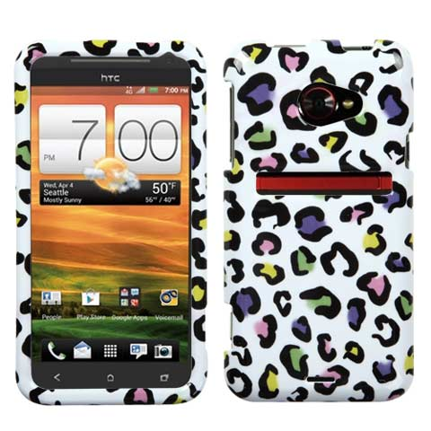 Happy Leopard Hard Case for HTC EVO 4G LTE