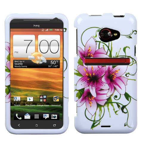 Lilies Hard Case for HTC EVO 4G LTE