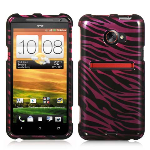 Purple Zebra Hard Case for HTC EVO 4G LTE