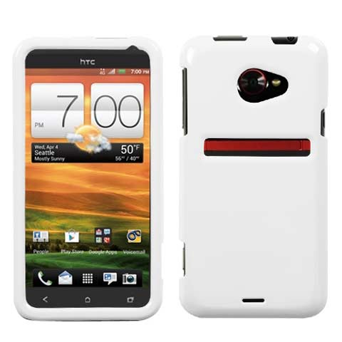 White Hard Case for HTC EVO 4G LTE